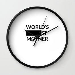 Gift for Worlds Blank Mother Wall Clock