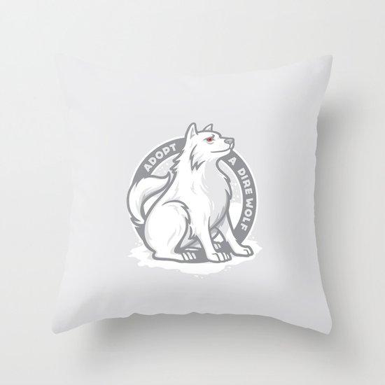 Adopt A Dire Wolf Throw Pillow