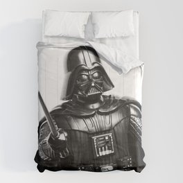 Darth Vader Black & White Photograph Comforters