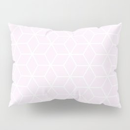 Winter 2019 Color: Pink Cream in Cubes Pillow Sham