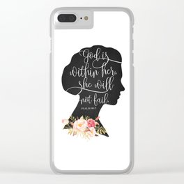 God with Within Her Clear iPhone Case
