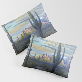 Superstition Mountains and Desert Landscape by John Marshall Gamble Pillow Sham