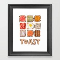Breakfast Toast Framed Art Print