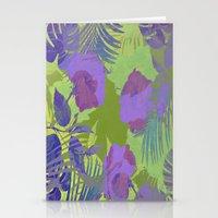 hawaiian Stationery Cards featuring Hawaiian Purple by ALLY COXON
