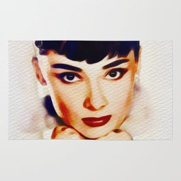 Audrey Hepburn, Hollywood Legend Rug