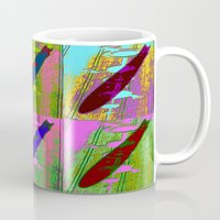 led zeppelin Mugs featuring Zeppelin Warhol by Sara PixelPixie