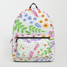 Fluffy Flowers Backpack