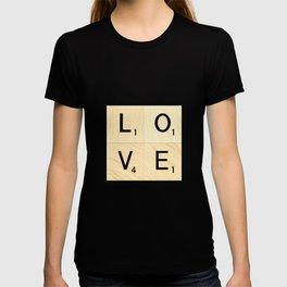 LOVE - Scrabble Letter Tiles Art T-shirt