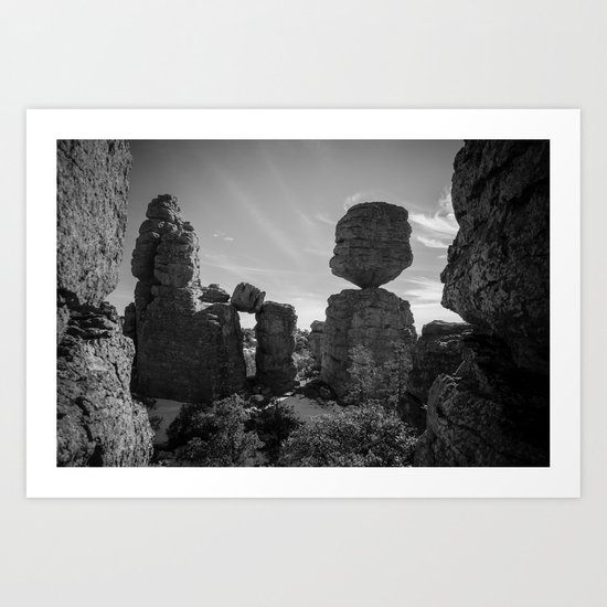 Big Balanced Rock Art Print