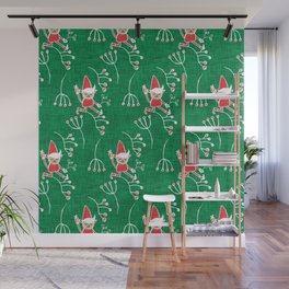 Santa Little Helper Green #Holiday #Christmas Wall Mural