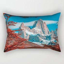 Monte Fitz Roy HDR autunm mountains Patagonia Argentina South America beautiful nature Rectangular Pillow
