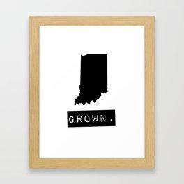 Indiana Grown Framed Art Print