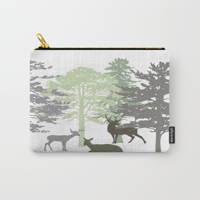 Morning Deer In The Woods No. 1 Carry-All Pouch