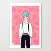 kuroko Canvas Prints featuring Kuroko by Liyu