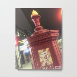 Firehouse call box Metal Print