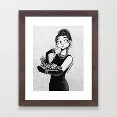 breakfast with Tiffany Framed Art Print