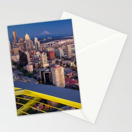 Seattle in the Evening, from the Space Needle Stationery Cards