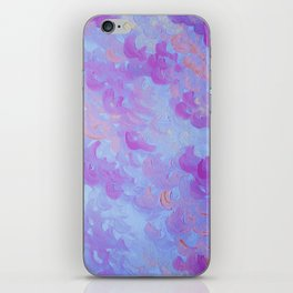 PURPLE PLUMES - Soft Pastel Wispy Lavender Clouds Lilac Plum Periwinkle Abstract Acrylic Painting  iPhone Skin