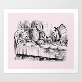 Blush pink - mad hatter's tea party Art Print
