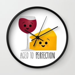 Aged To Perfection - Wine & Cheese Wall Clock