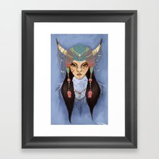 Mongolian Princess Framed Art Print