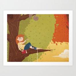 Up a Tree Art Print