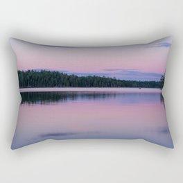 Sunset on Little Loon Rectangular Pillow