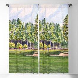 Pinehurst Golf Course No2 Hole 17 Blackout Curtain