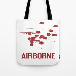 Airborne Jump (Airborne Red) Tote Bag