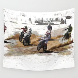 Starting Strong! - Motocross Racers Wall Tapestry