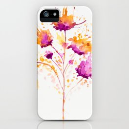 Blot Flowers iPhone Case
