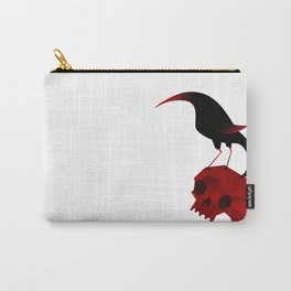 Bird and Skull Carry-All Pouch