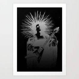 V - Silver Art Print