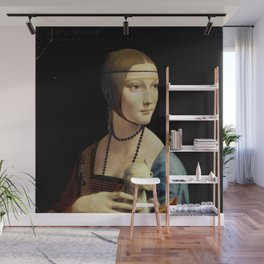 Leonardo da Vinci - The Lady with an Ermine Wall Mural