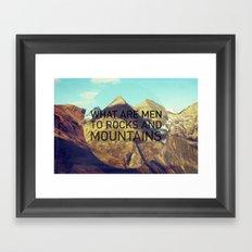 Mountains and Men Framed Art Print
