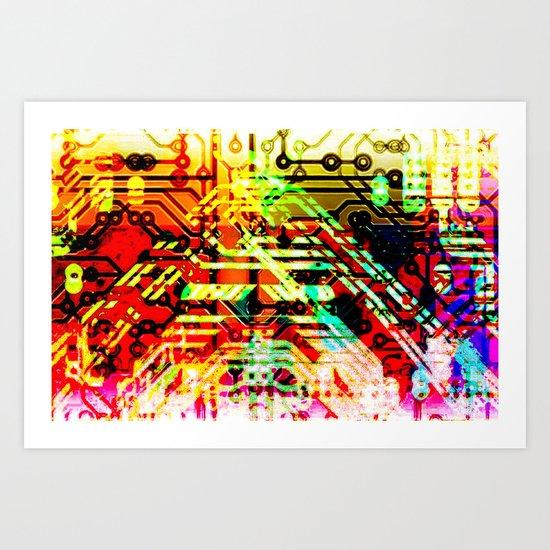 Color circuit Art Print