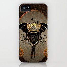 Dragon in gold and black iPhone Case