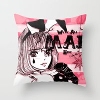 giants Throw Pillows featuring Tiny Giants by Chandelina