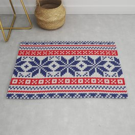 Winter knitted pattern 7 Rug