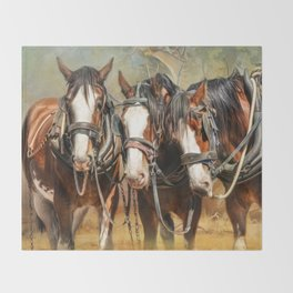 Clydesdale Conversation Throw Blanket
