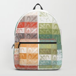 Lily pattern Backpack