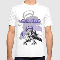 teenage mutant ninja turtles (TMNT) shirt - Donatello White MEDIUM Mens Fitted Tee