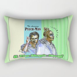 The Amazing Psych-Man & The Magic-Head - Psych quotes Rectangular Pillow