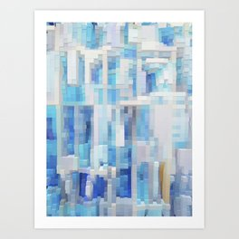 Abstract blue pattern 2 Art Print