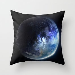 Aquamarine Marble Throw Pillow