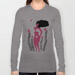 flower woman Long Sleeve T-shirt