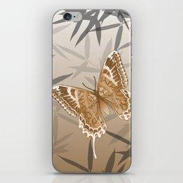 Beautiful Copper Butterfly Design iPhone Skin