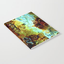 Colorful Wood Spirals Background #Abstract #Nature Notebook