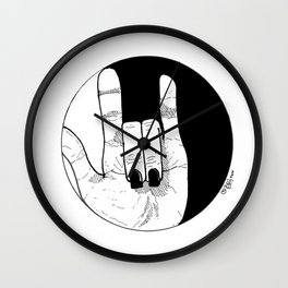 Love Conquers: Balance. Wall Clock