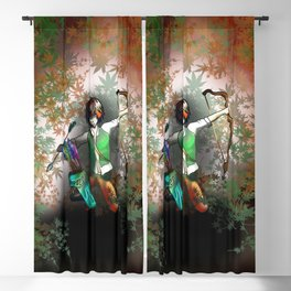 Elf Archer for dnd, magic and fantasy fans Blackout Curtain